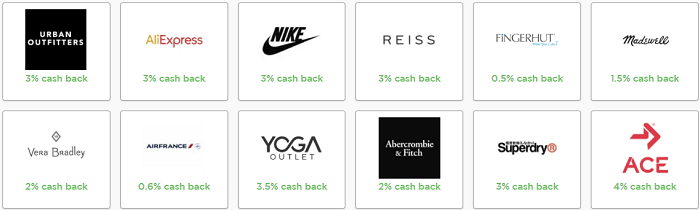 Cashback Rates