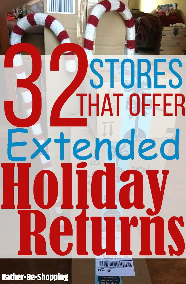 All 37 Popular Stores That Offer Extended Holiday Returns