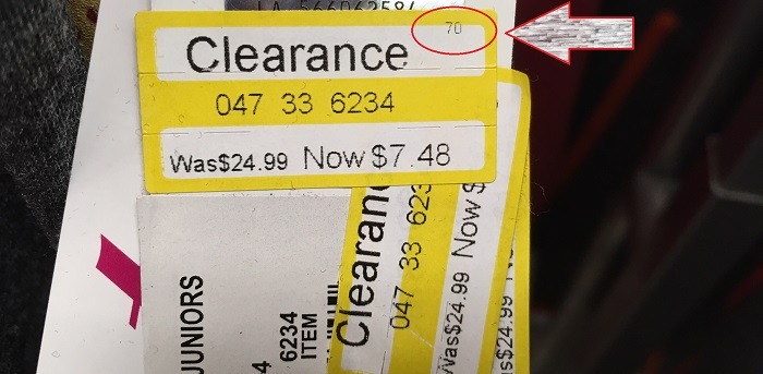 Target Yellow Clearance Price Tag