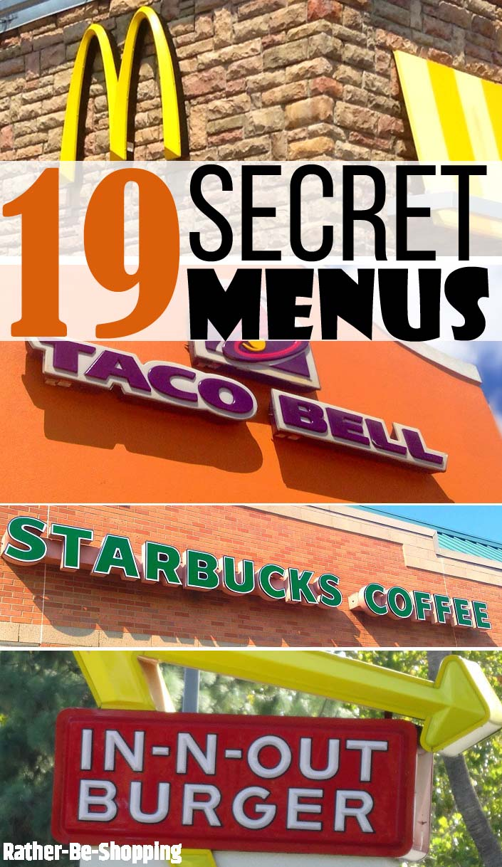 Secret Menus | 19 Hidden Menus That'll Change How You Dine Forever