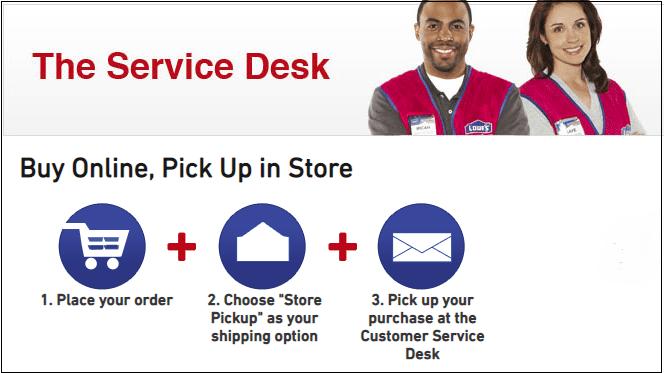 Lowe's In-Store Pickup