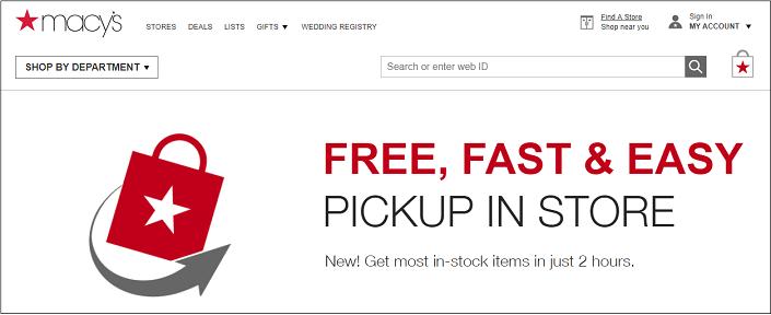 Macy's In-Store Pickup