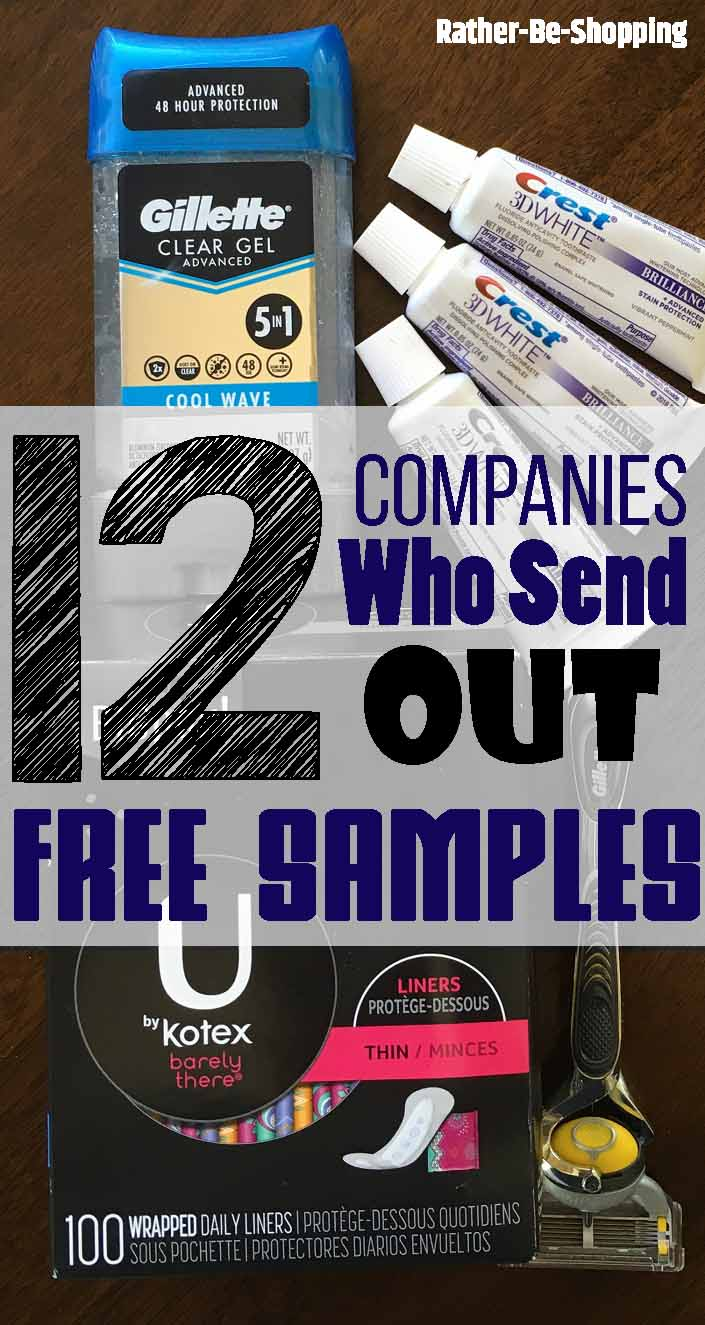 Free Samples: The 12 Companies Who'll Send Out Free Samples