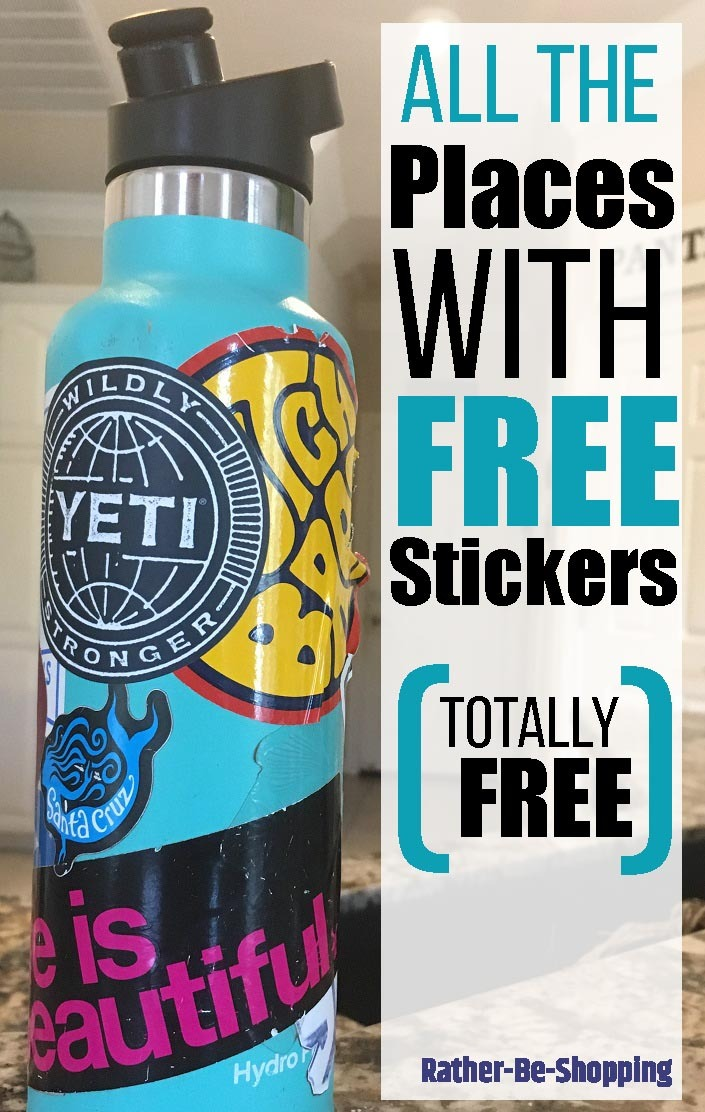 All the Places That Give Out Free Stickers