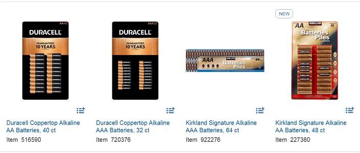 Costco Alkaline Battery