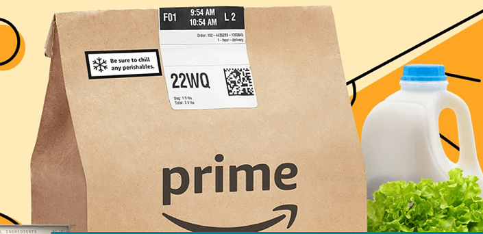 Amazon Fresh is free to Prime Members
