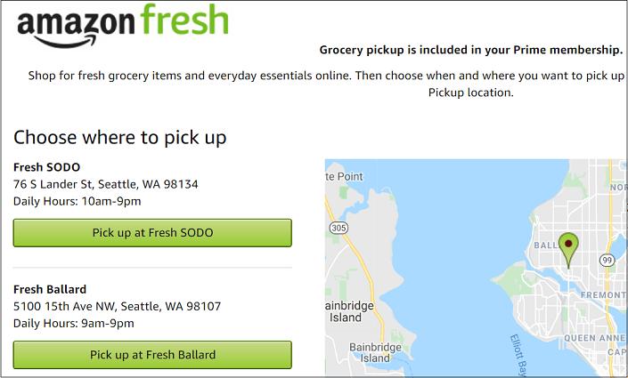 Amazon Fresh Local Pickup