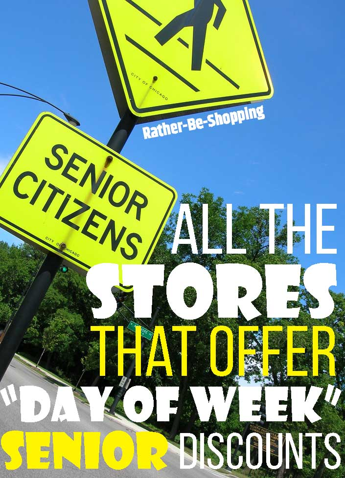 """All 11 Stores That Offer """"Day of the Week"""" Senior Discounts"""