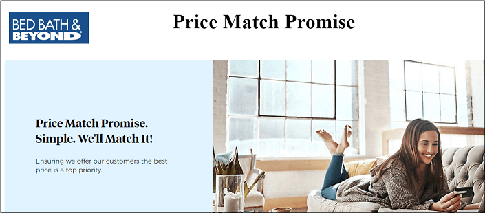 Bed Bath and Beyond price match