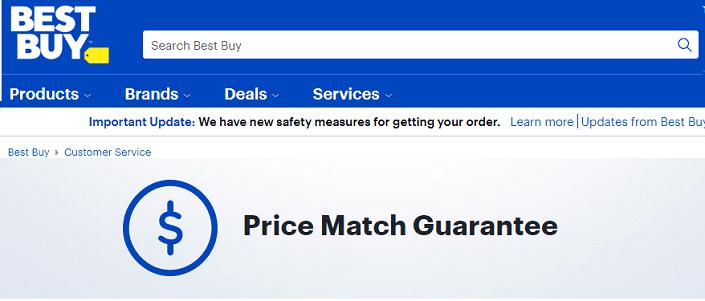 Best Buy price match