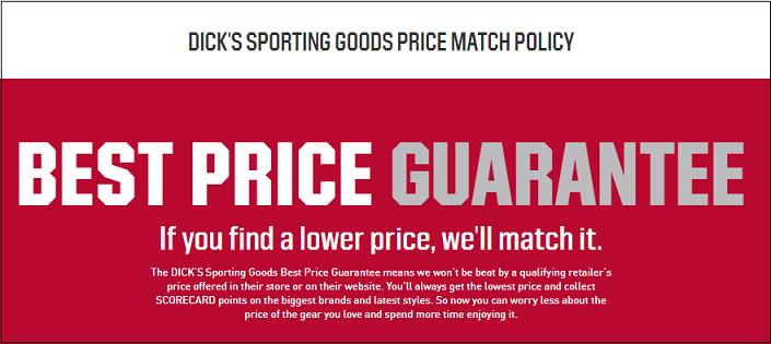 Dick's price match