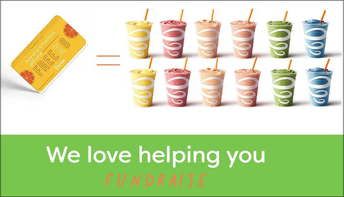 Jamba Juice Fundraise Cards