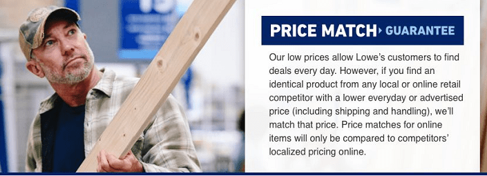 Lowe's price match
