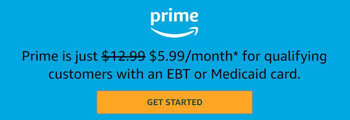 EBT Card Holders Get Amazon Prime for $5.99/mo