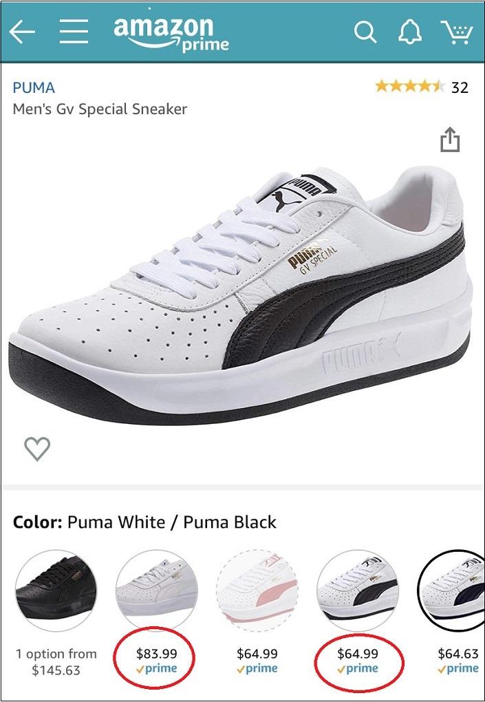 Puma Shoe Example