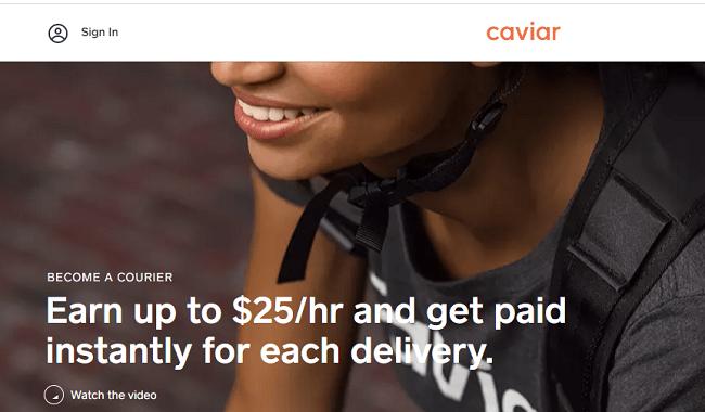 Caviar restaurant delivery
