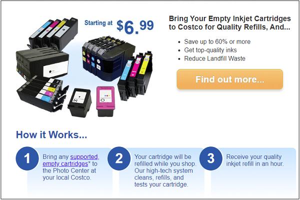 Refill Inkjet Cartridges at Costco