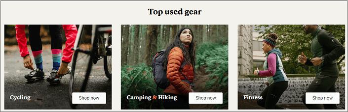 Used gear at REI