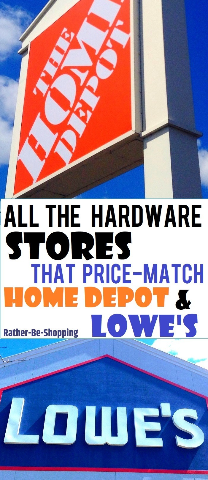 All The Hardware Stores That Price-Match Home Depot and Lowe's