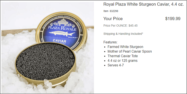 Caviar at Costco