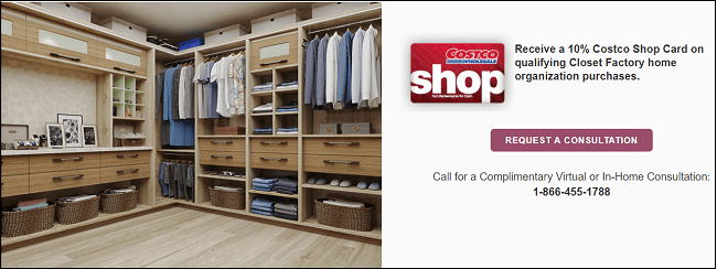Costco custom closets