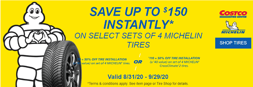 Current Costco Tire Coupon
