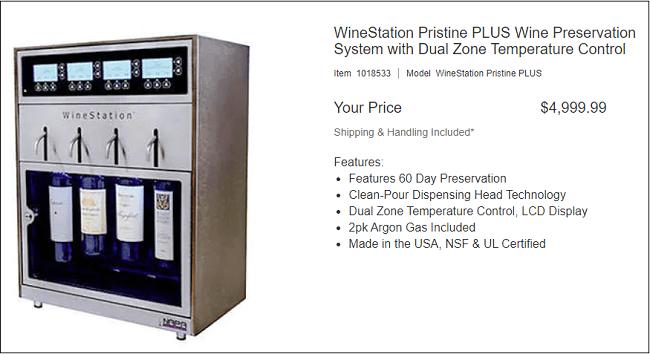 Wine Station Preservation System