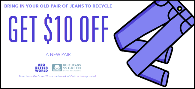 $10 Off AE Jeans