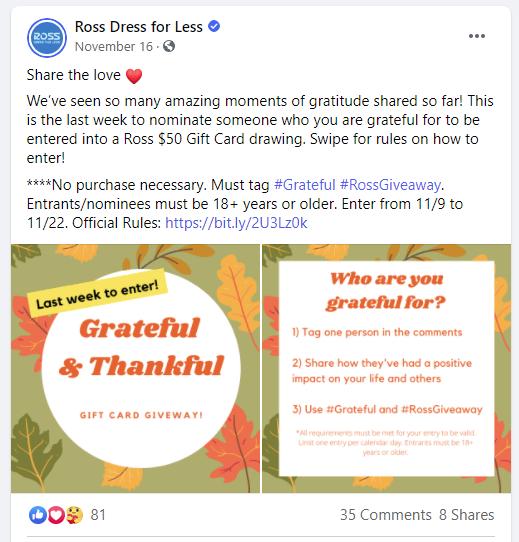 Ross on Facebook