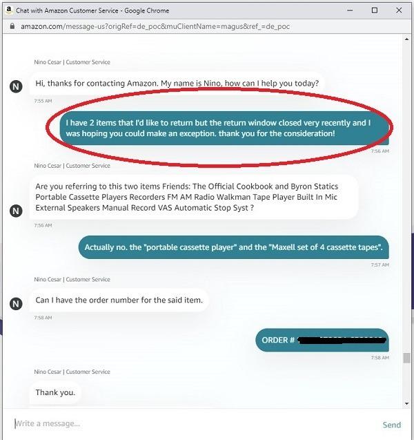 Amazon Live Chat